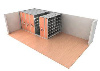 Mobile Shelving System can be Compacted creating Space